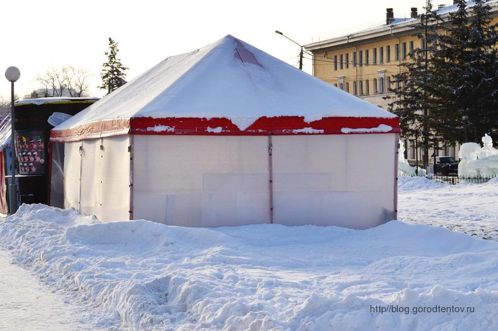 Тентовый павильон для зимнего городка