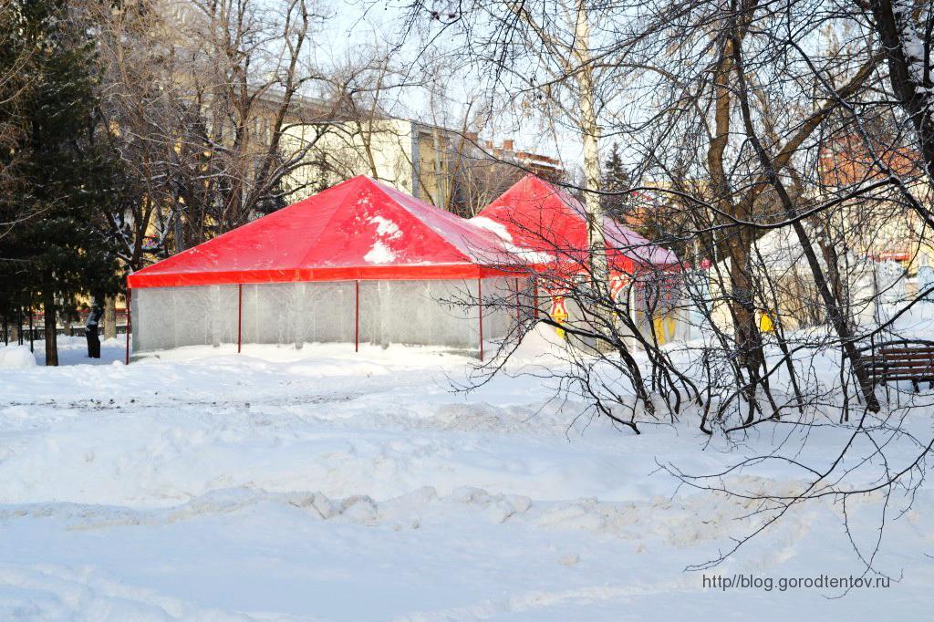 Зимние шатры для новогоднего городка в Томске