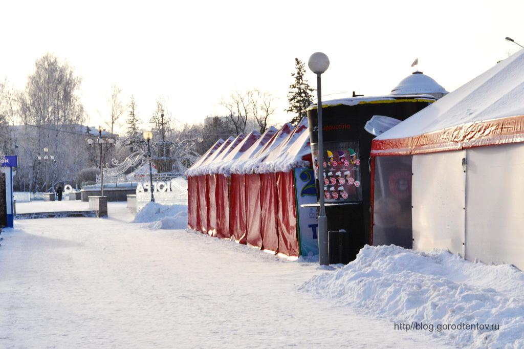 Торговые палатки для новогодней ярмарки