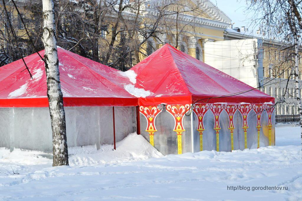 Зимние шатры-паивльоны для зимнего городка